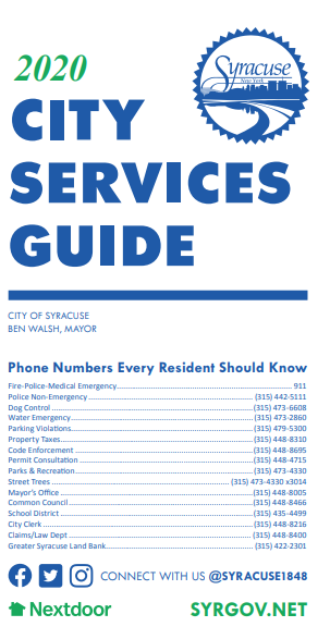 2020 City Services Brochure